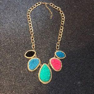 Jewelry - Multi Druzy stone necklace